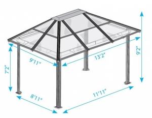 Крыша для беседки из поликарбоната
