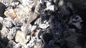 Приготовление угля для мангала