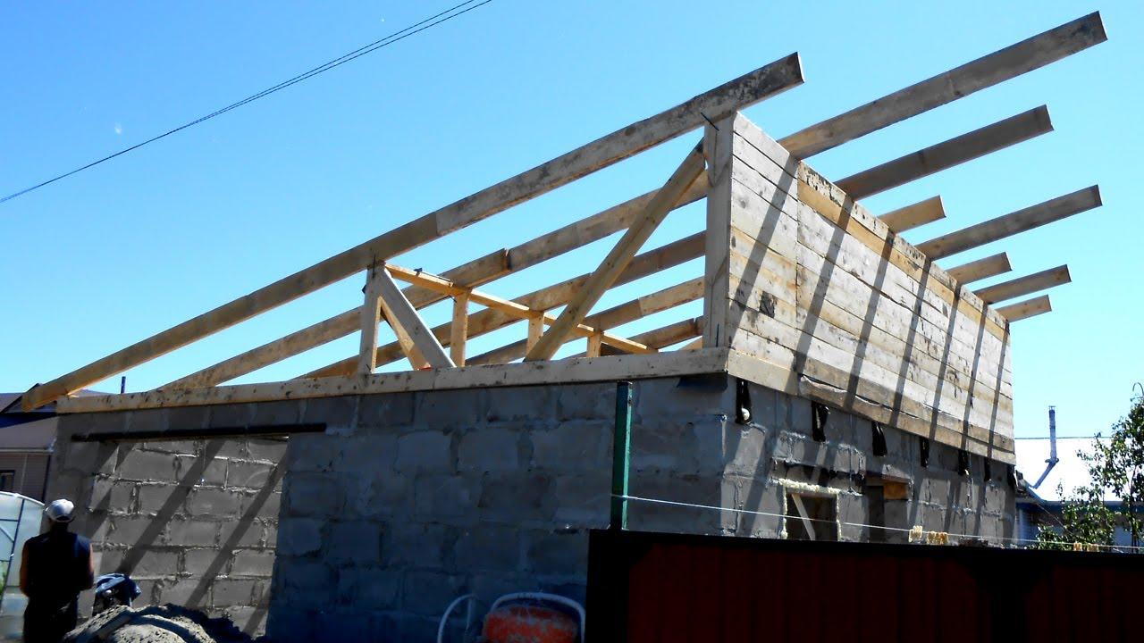Крыша на баню односкатная своими руками