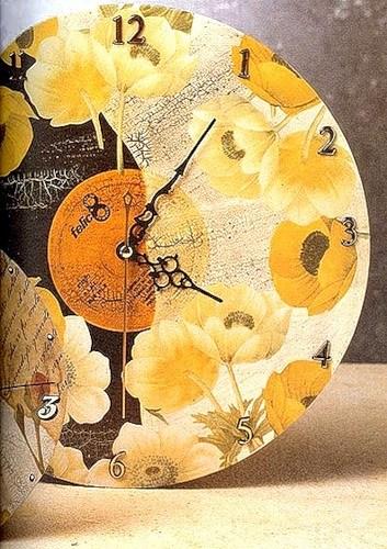 Часы из старой пластинки — мастер-класс в фото