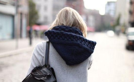Cхемы вязания снуда-капюшона спицами: описание новинок в фото