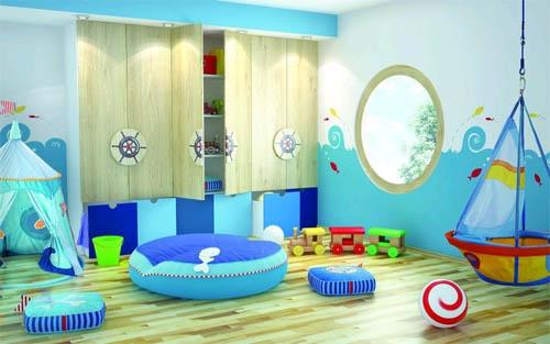 Голубая детская комната: жизнерадостность и легкость в фото