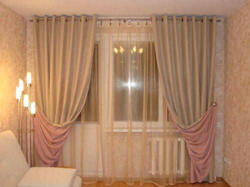 Как подобрать двухсторонние шторы на окна в фото