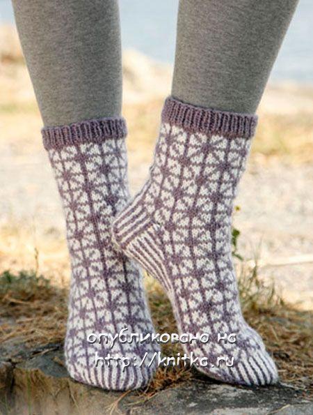 Как связать носки с рисунком куриных ног с фото и видео в фото