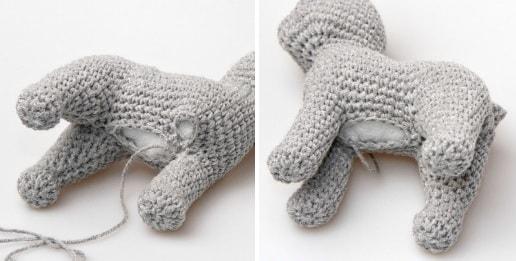 Кошка амигуруми. Описание вязания крючком в фото