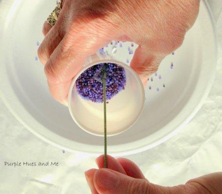 Мастер класс по изготовлению из бисера цветка «Горная лаванда» в фото