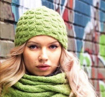 Объемная вязка спицами для шапки: схемы с видео в фото