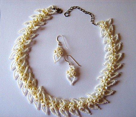 Схема плетения из бисера ожерелья «Jeneva» в фото