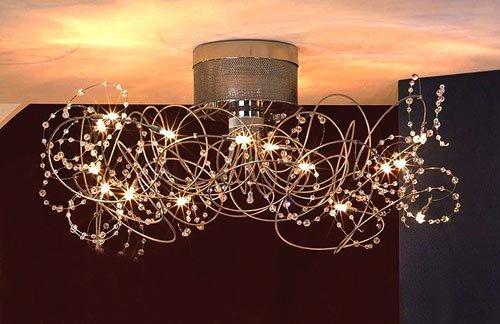 Способы подвешивания светильников к потолку из гипсокартона в фото