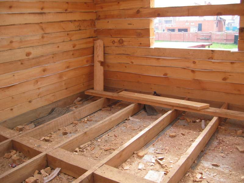 Утепление полов в деревянном доме снизу в фото