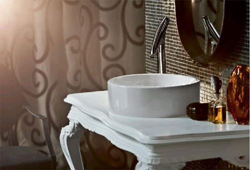 Ванная комната в стиле барокко в фото