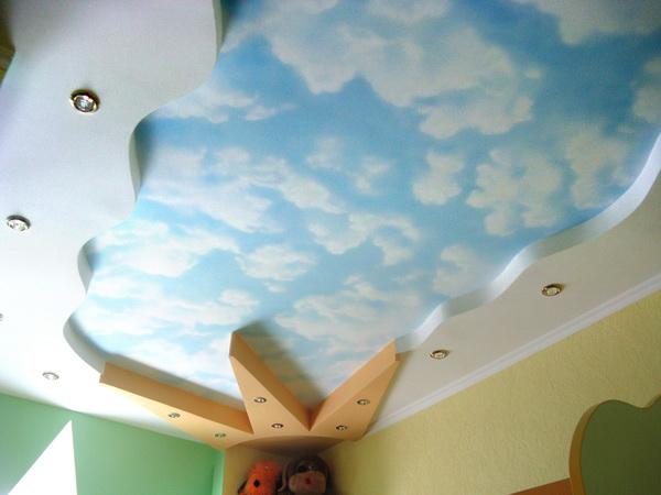 Варианты дизайна потолка из гипсокартона в фото