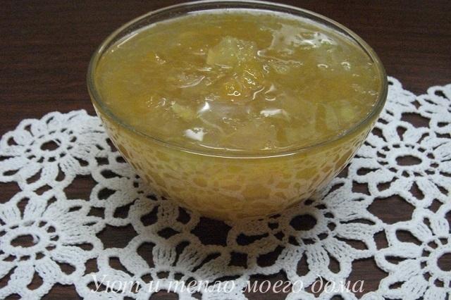 Янтарное варенье из кабачков. Рецепт с фото в фото
