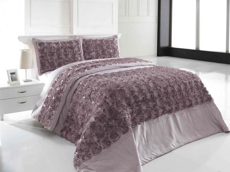 Фото Покрывалов спальню - лиловая расцветка