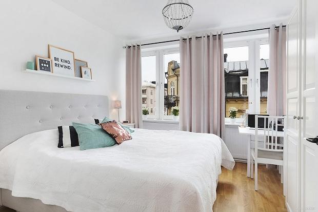 Фото Идея для спальни в белом цвете 2016