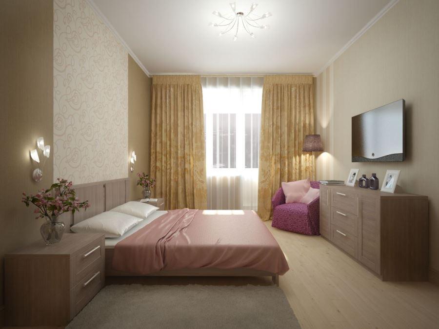 фото ламината в маленькой спальне