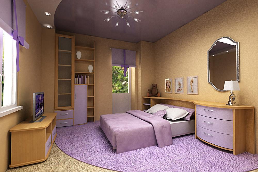 Фото Натяжные потолки в спальне