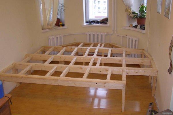 фото Каркас для кровати подиума
