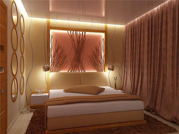 фото Акцентирование светом и аксессуарами в классической спальне