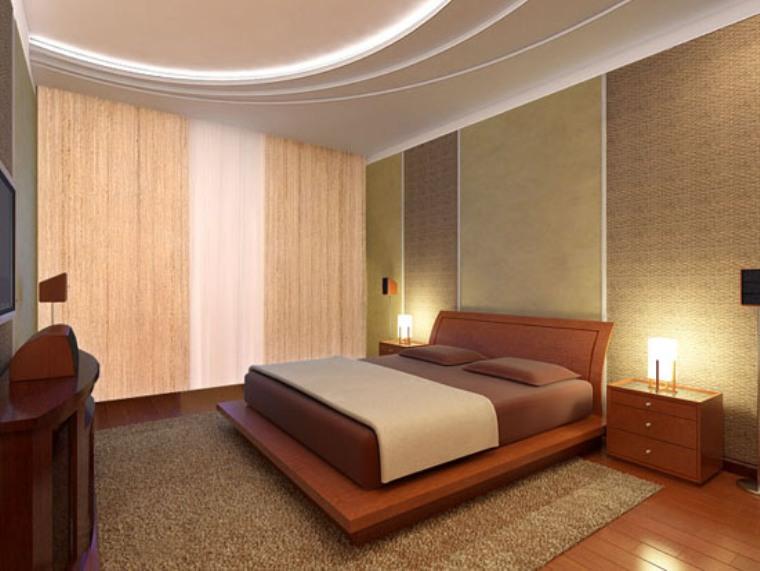 фото Акцентирование источниками света в маленькой спальне