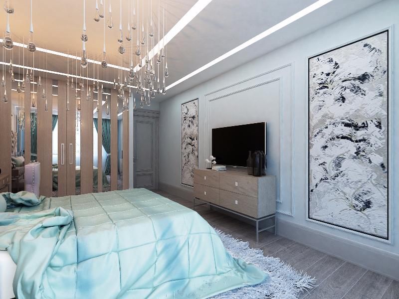 фото Декорирование стен в спальне