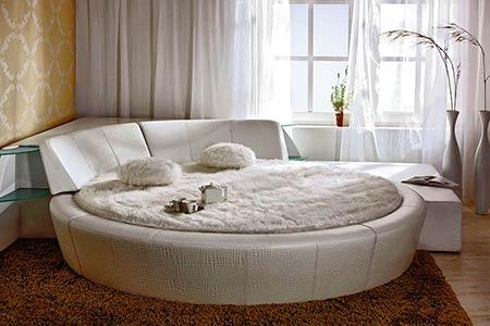 Фото Круглая кровать с подъемным механизмом