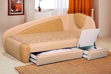 Фото кровать тахта с подъемным механизмом
