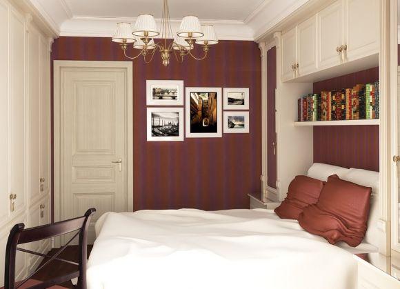 фото Выбор обоев для интерьера маленькой спальни