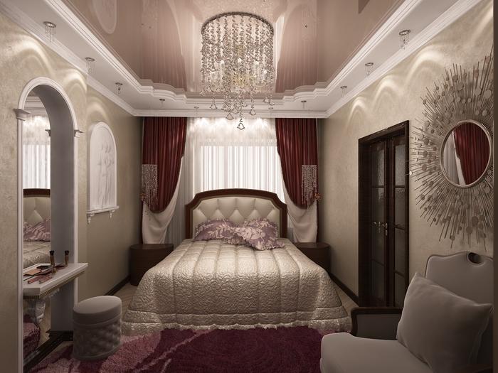 Фото Кровать у окна в маленькой спальне