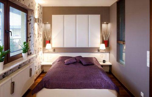 фото Дизайн спальни 9 кв м во многом зависит от света
