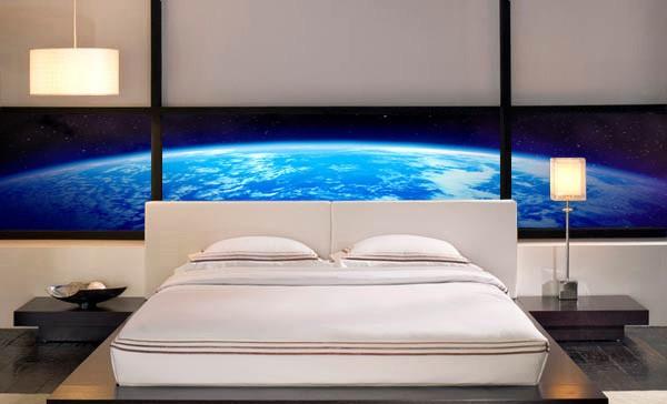 фото Фотообои в спальню космос