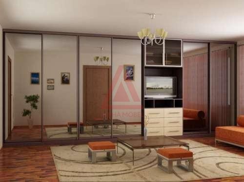 фото Встроенный шкаф-купе в спальне: пример интерьера