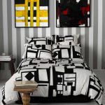 Artistic-modern-black-and-white-bed-comforters