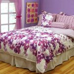 Bedding-Sets-for-Teenage-Girls-Motif-Bedspreads-Purple-Curtain