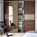 Bedroom_Sliding_Doors_Walnut_Bronze_Mirror_Open_HR