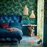 Blue-and-green-motif-wallpaper