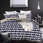 Cat-print-bed-cover-font-b-black-b-font-and-white-bedding-set-cartoon-font-b