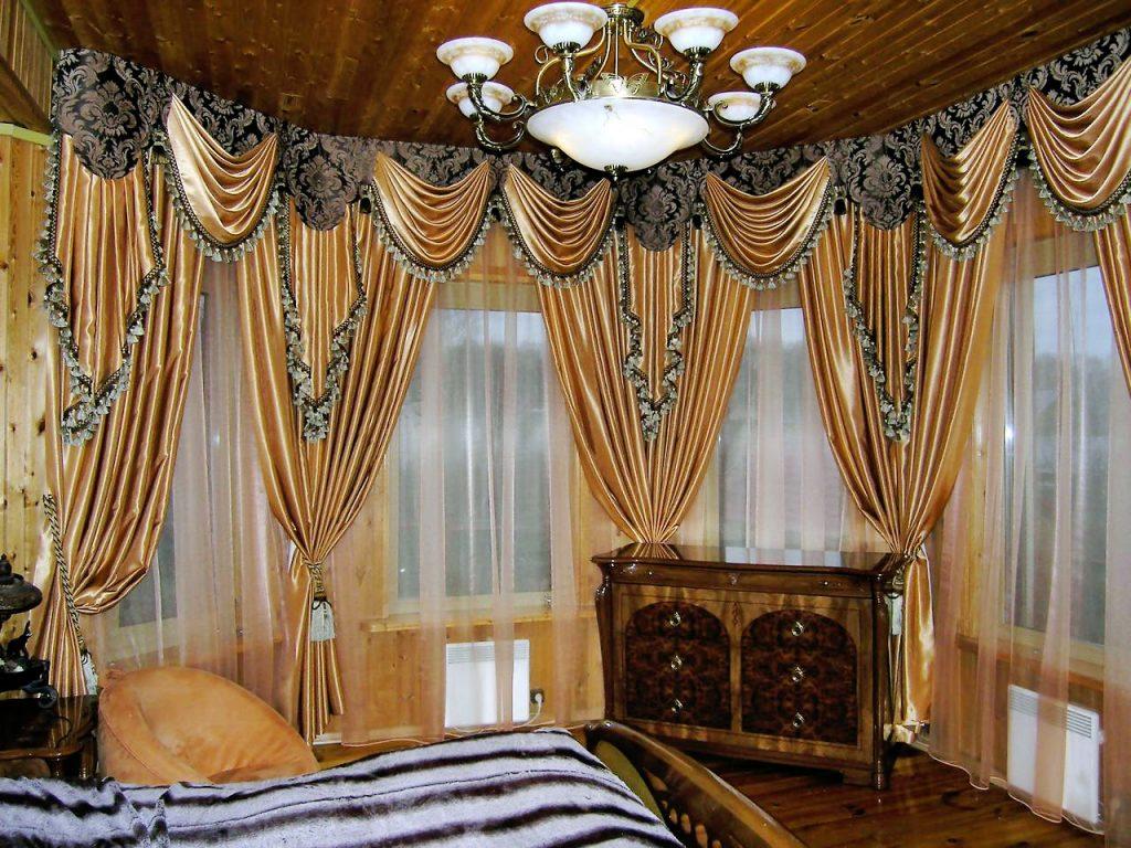 Фото Модный тренд классического стиля: двух или трехцветные шторы