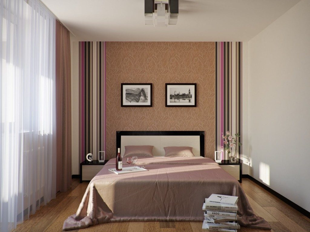 Фото Минималистский дизайн спальни 12 кв.м