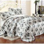Noir-et-blanc-floral-soie-de-luxe-ensemble-de-literie-pour-le-roi-reine-pleine-double