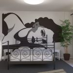 retro-wall-mural-for-master-bedroom