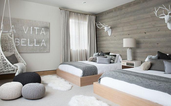 фото Спальня в скандинавском стиле, пример 3