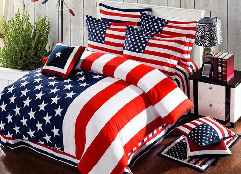 фото Покрывало для спальни фото с американской атрибутикой