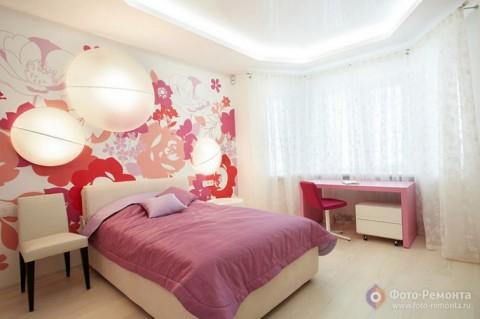 Фото спальни для девушки в светлых тонах