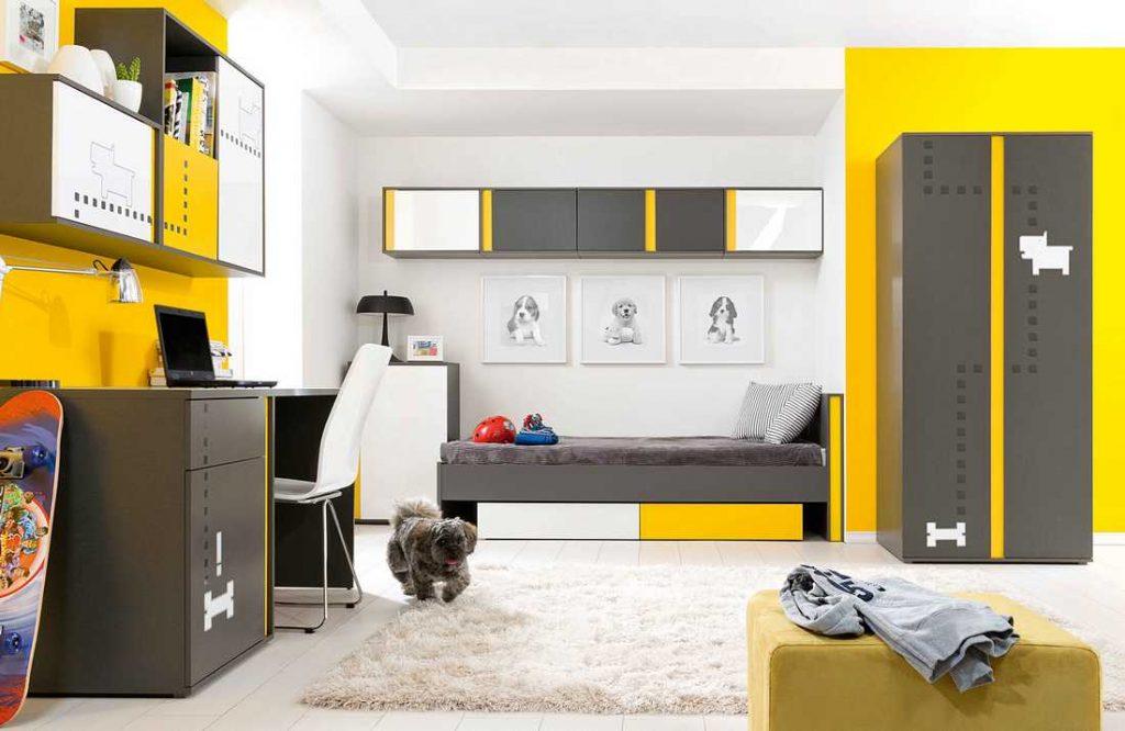 Фото пример разделения рабочей зоны в спальне