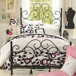 cool-bed-sheets-bedroom-sets-fashionable-black-iron-frame-bed-also-black-and-pink-floral-pattern-teen-vogue-bedding-set-in-beige-colored-wall-teen-girls-room-bedspreads-for-teens-teen