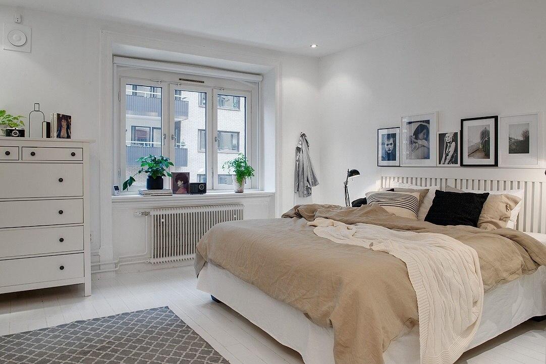 фото Окно Спальни в скандинавском стиле