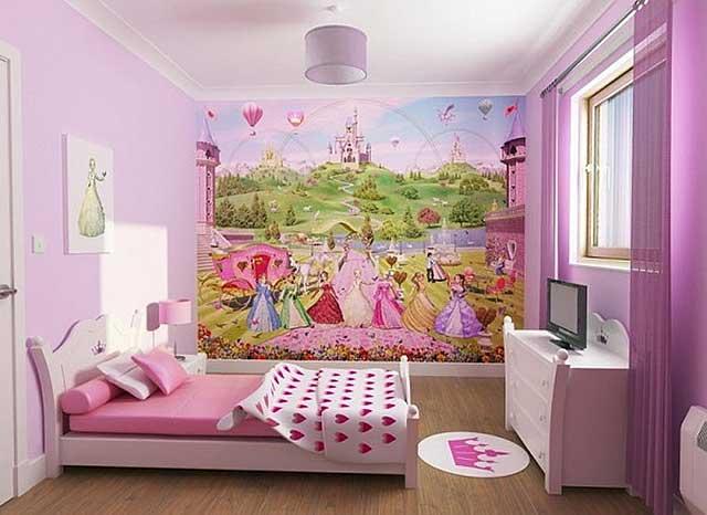 Фото Спальня для девочки в лиловых тонах