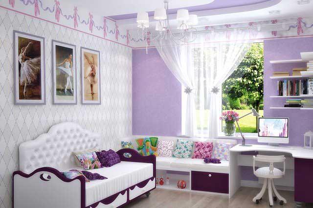 Фото Спальня для девочки в английском стиле