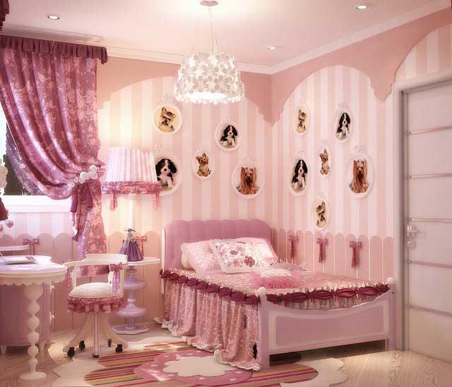 фото Роскошная спальня юной принцессы